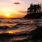 Sunset on the Olympic Peninsula in Washington state by Jeff Hathaway