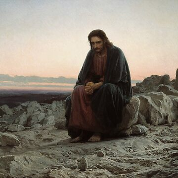 Christ in the Wilderness by Ivan Kramskoy by classicartcache
