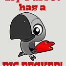 Cute Parrot with Big Beak for African Grey Lovers by einsteinparrot