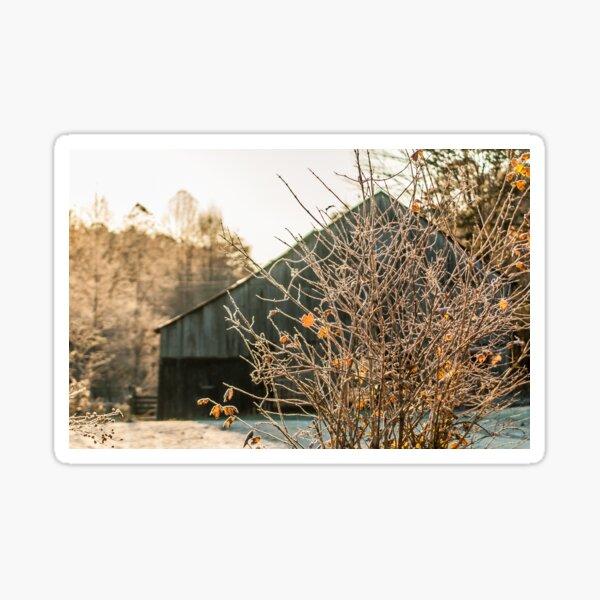 Frosty Morning on the Farm Sticker