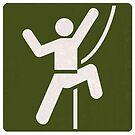 Outdoor Recreational Sign Traditional Rock Climbing by surgedesigns