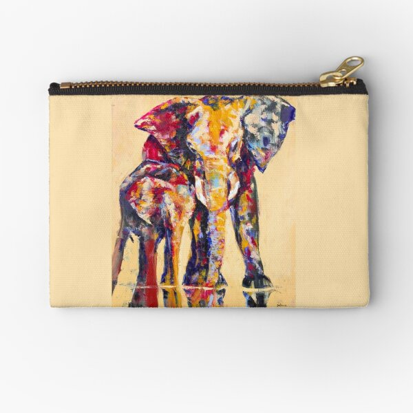 Elephants of Color Zipper Pouch