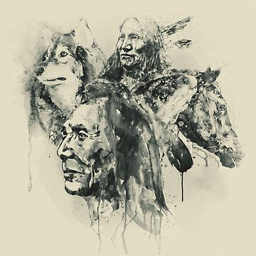 Native Heritage Vintage Collage by caracatita75