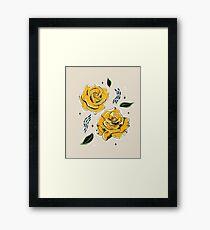 Gold Roses Framed Print