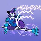 Aquarius Zodiac Witch by evocaitart