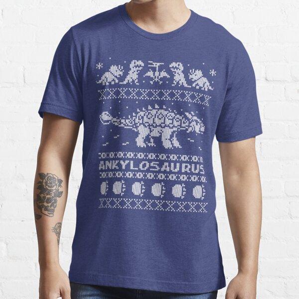 Ankylosaurus Winter Holiday Sweater Essential T-Shirt