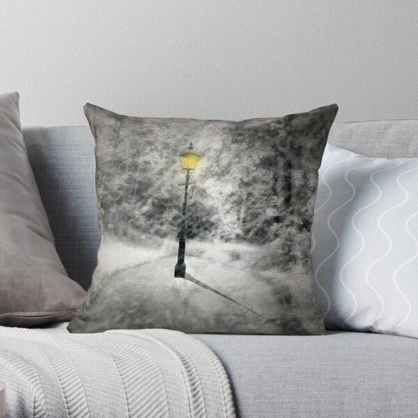 This way to Narnia Throw Pillow