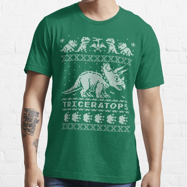 Triceratops Winter Holiday Sweater Essential T-Shirt