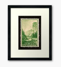 1934 1c Yosemite, California Postage Stamp Framed Print
