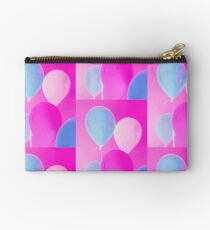 Gift for Teens - Balloony - Neon Pink Blue Balloons Art  Studio Pouch