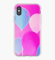 Gift for Teens - Balloony - Neon Pink Blue Balloons Art  iPhone Case