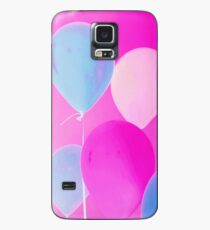 Gift for Teens - Balloony - Neon Pink Blue Balloons Art  Case/Skin for Samsung Galaxy
