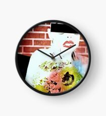 Flowers in her arms Clock