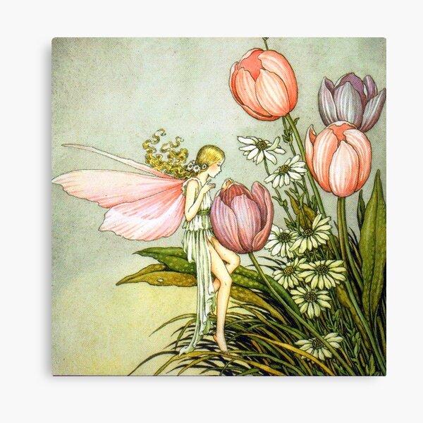 Tending the Tulips - Ida Rentoul Outhwaite Canvas Print