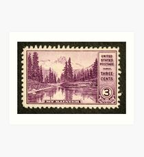 1934 3c Mt. Rainier, Washington Postage Stamp Art Print