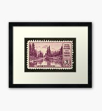 1934 3c Mt. Rainier, Washington Postage Stamp Framed Print