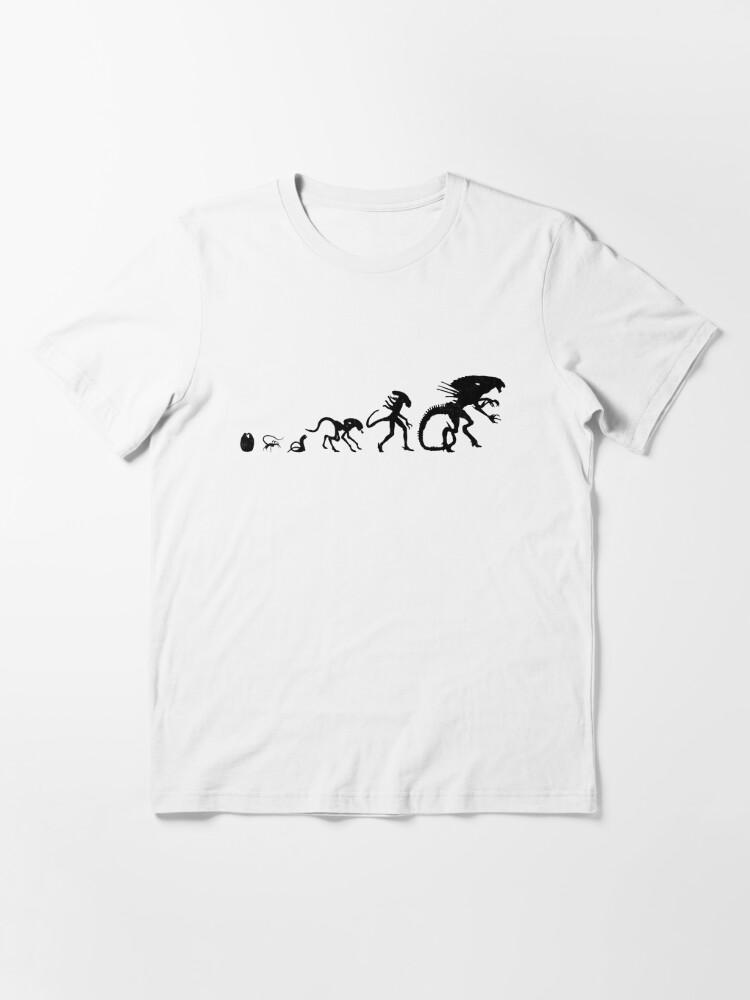 Alternate view of Xenomorph Alien Evolution Essential T-Shirt