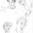 J-Hope Sketches by fayeemily