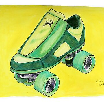 green pop art skate by brandydevoid