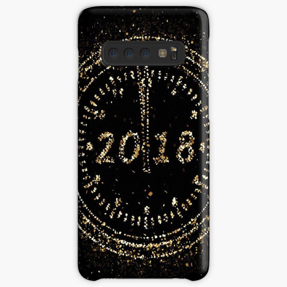 Emotions new year's day golden ornament Gold Case & Skin for Samsung Galaxy