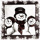 Winter Wonders- Three Happy Snowmen by Sherry Hallemeier