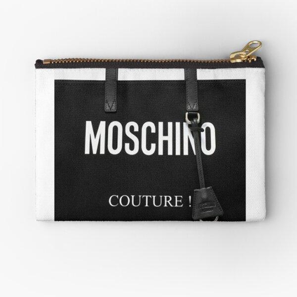 Bag Black Moschino Couture Milano Zipper Pouch