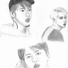 Jin Sketches by fayeemily