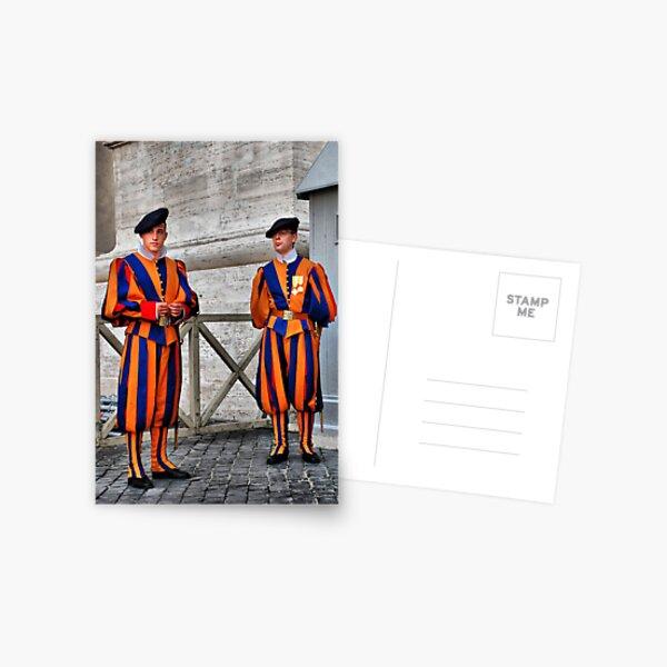 Papal Swiss Guards Postcard