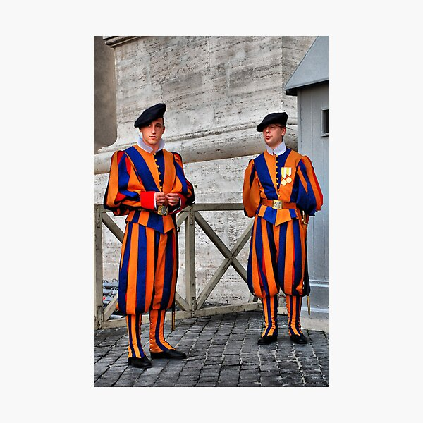 Papal Swiss Guards Photographic Print