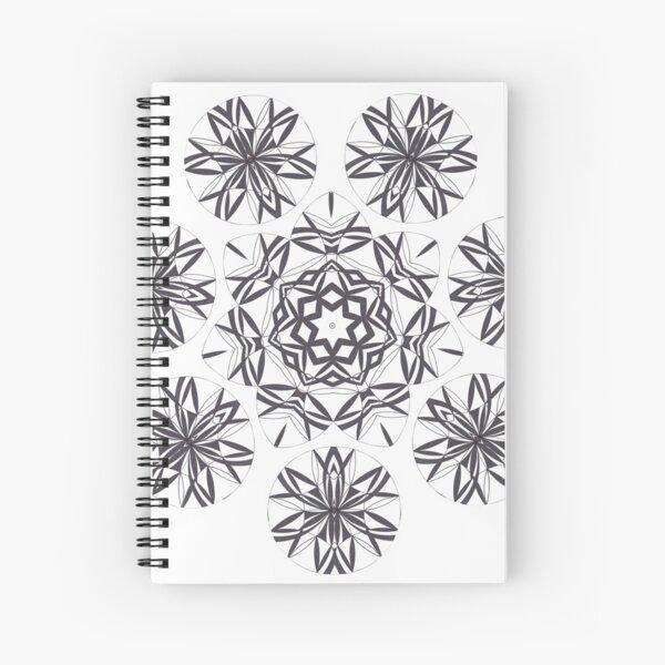Lite on Dark Monochrome Blast Fall Into Winter Design by Green Bee Mee Spiral Notebook