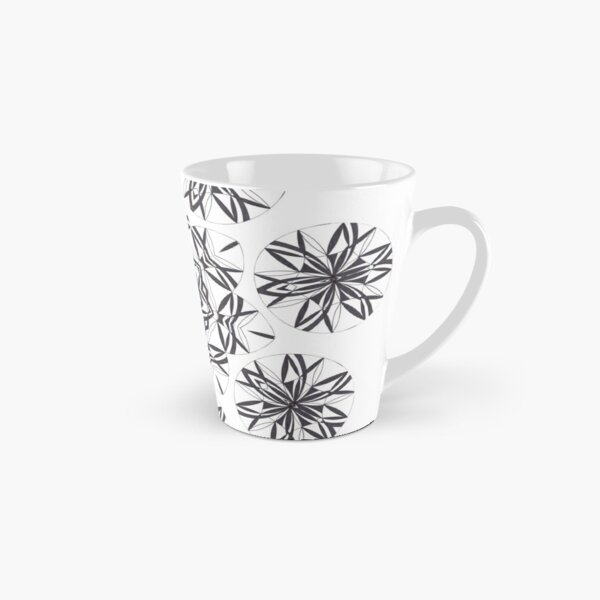 Lite on Dark Monochrome Blast Fall Into Winter Design by Green Bee Mee Tall Mug