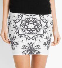 Lite on Dark Monochrome Blast Fall Into Winter Design by Green Bee Mee Mini Skirt