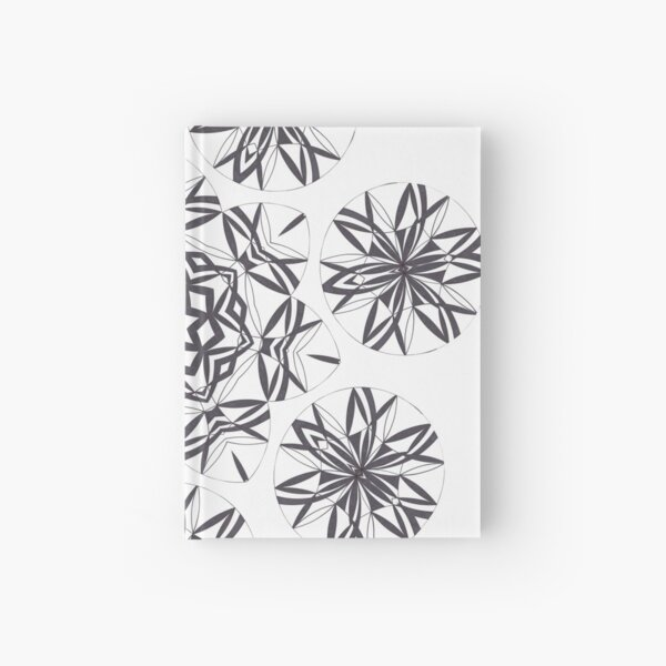 Lite on Dark Monochrome Blast Fall Into Winter Design by Green Bee Mee Hardcover Journal
