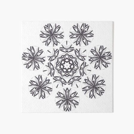 Lite on Dark Monochrome Blast Fall Into Winter Design by Green Bee Mee Art Board Print