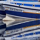 Blue Boat, Reflected by cclaude