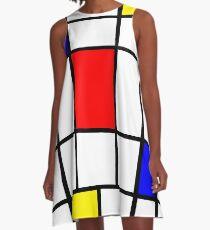 Mondrian #63 A-Line Dress