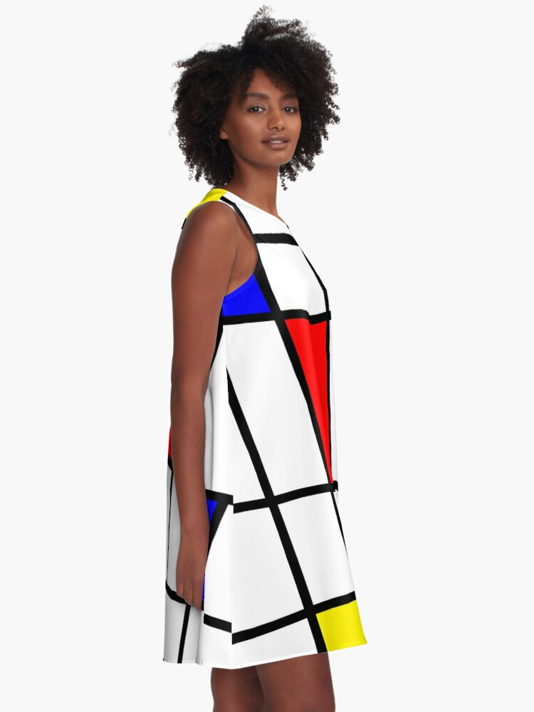 Alternate view of Mondrian #63 A-Line Dress