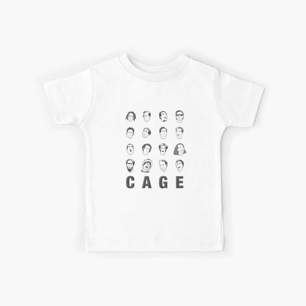 Die vielen Gesichter von Nicolas Cage Kinder T-Shirt
