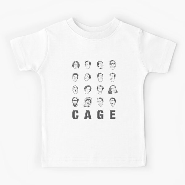 The Many Faces of Nicolas Cage Kids T-Shirt