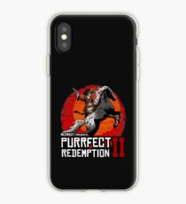 Red Horse Cowboy Purrfect Meowboy Gamer Tee iPhone Case