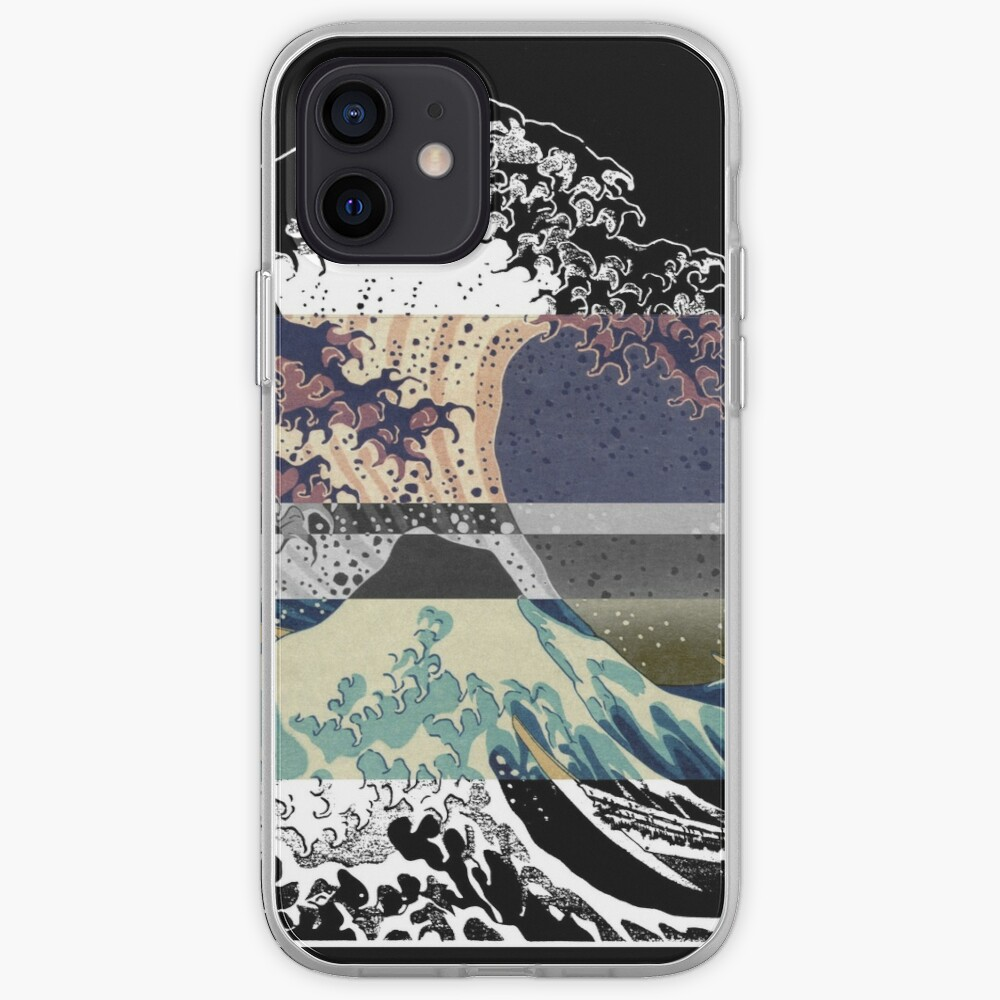 the great wave color glitch  iPhone Case & Cover