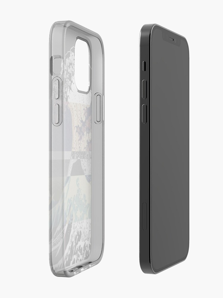 Alternate view of the great wave color glitch  iPhone Case & Cover