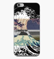the great wave color glitch  iPhone Case