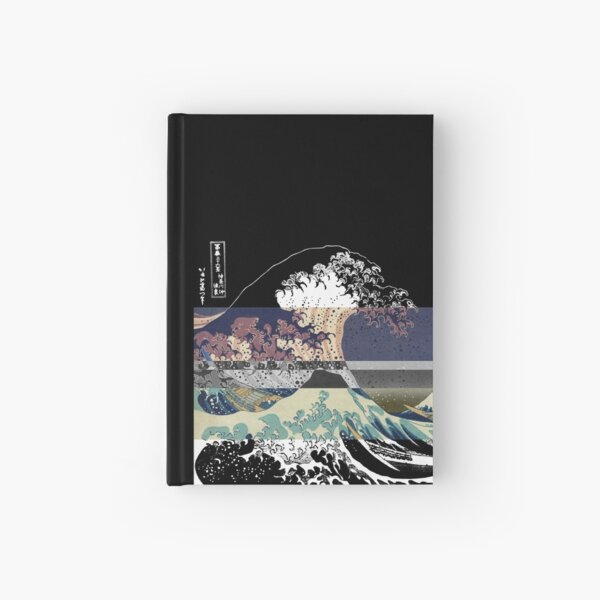 the great wave color glitch  Hardcover Journal