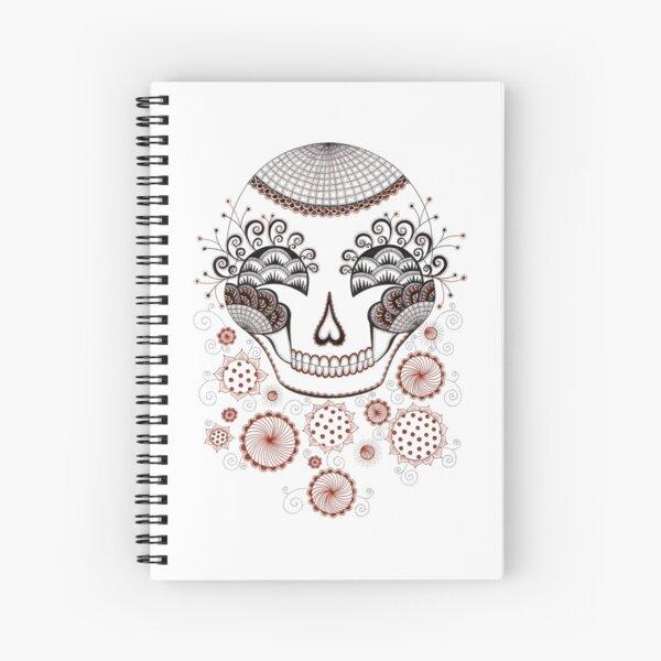 Carnival  Skull Spiral Notebook