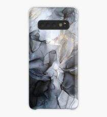Calm but Dramatic Light Monochromatic Black & Grey Abstract Case/Skin for Samsung Galaxy