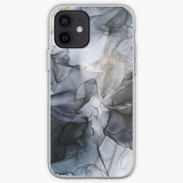 Calm but Dramatic Light Monochromatic Black & Grey Abstract iPhone Soft Case