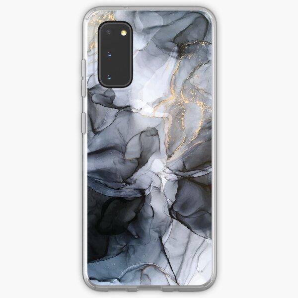 Calm but Dramatic Light Monochromatic Black & Grey Abstract Samsung Galaxy Soft Case