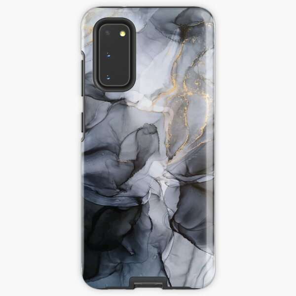 Calm but Dramatic Light Monochromatic Black & Grey Abstract Samsung Galaxy Tough Case