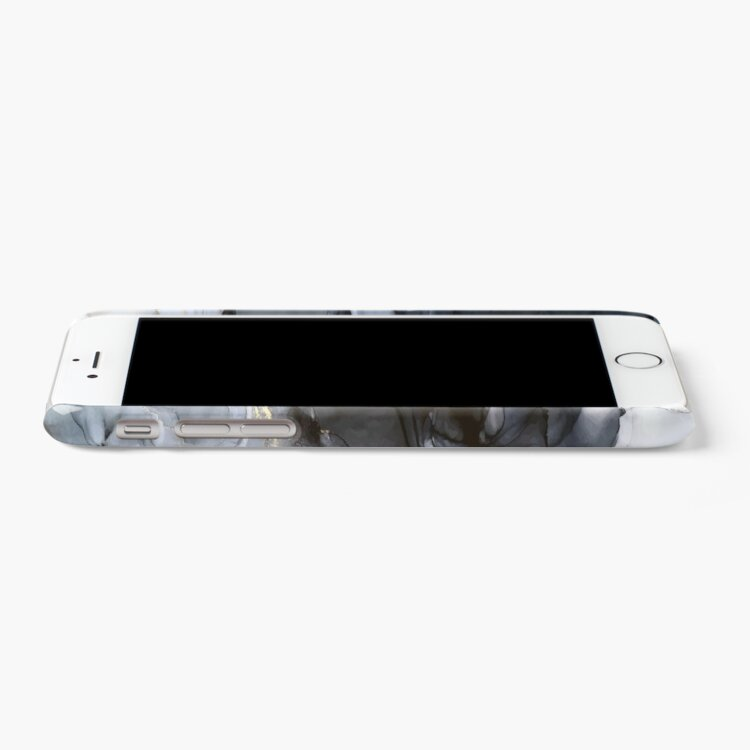 Alternate view of Calm but Dramatic Light Monochromatic Black & Grey Abstract iPhone Case & Cover